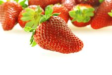 Close Up Of Fresh Strawberry Royalty Free Stock Photos