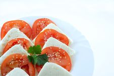 Free Tomato And Slice.. Stock Photography - 4763162