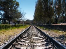 Free Empty Rail Road Tracks Stock Photos - 4763373