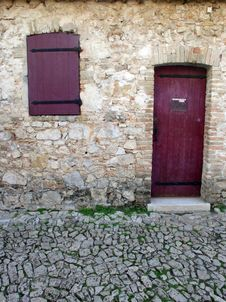 Door With Window 01 Royalty Free Stock Photos