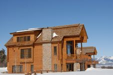 Free Luxury Home In The Rocky Mountains Stock Photography - 4764272