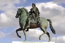 Free France; Lyon; Lyons; Bellecour Square Statue Royalty Free Stock Photo - 4765115