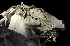 France; Lyon Or Lyons: Horse Statue Royalty Free Stock Image