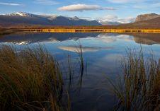 Free Mountain Reflection On NikkaLuokta. Royalty Free Stock Photos - 4765448