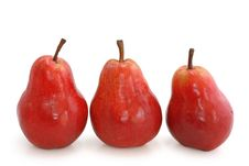 Free Three Red Pears Royalty Free Stock Images - 4765549