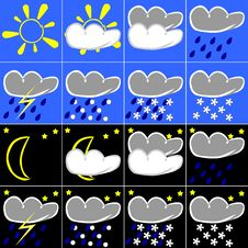 Free Weather Symbols Royalty Free Stock Photography - 4765557