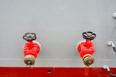 Free Firefighting Taps At A Military Ship Royalty Free Stock Photo - 4765805
