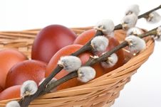 Free Easter Eggs In A Basket Stock Images - 4766414
