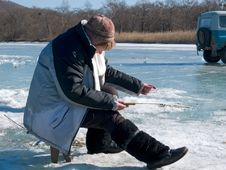 Free Winter Fishing Stock Photo - 4766540