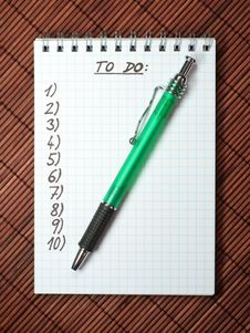 Free Notebook With Stylus Stock Photos - 4766553