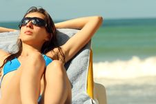 Free Sunbathing On The Beach Royalty Free Stock Images - 4766609