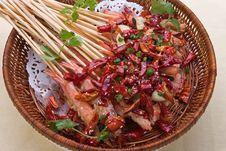 Free Chinese Food Shrimp Kebab Stock Image - 4766801