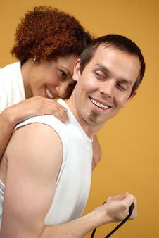 Free Couple Staying Fit Stock Images - 4766844