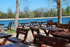 Free Wooden Tables In Park Stock Photos - 4766863