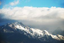Free Jade Dragon Snow Mountain Stock Images - 4767024