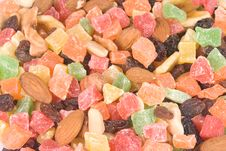 Assorted Dried Fruits And Nuts Royalty Free Stock Images