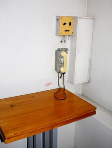 Free Old Interior With Telephone Stock Photos - 4767493