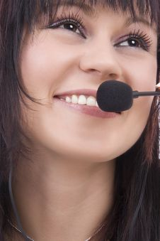 Free Woman Telephonist Stock Photography - 4767702
