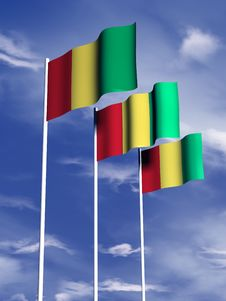 Free Guinea Flag Royalty Free Stock Image - 4767816