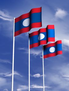 Free Laos Flag Stock Photo - 4767870