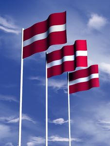Free Latvian Flag Stock Photography - 4767872
