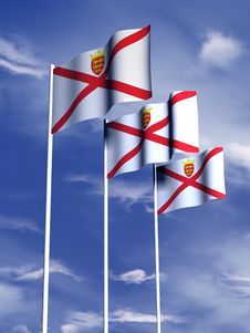 Free Jersey Flag Royalty Free Stock Photography - 4767877