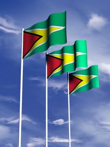 Free Guyana Flag Royalty Free Stock Images - 4767889