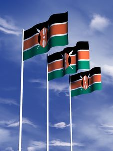 Free Kenyan Flag Royalty Free Stock Photography - 4767897