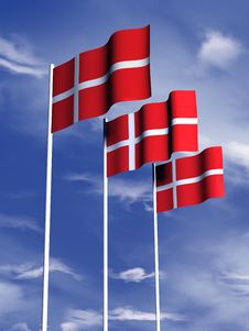 Free Danish Flag Royalty Free Stock Image - 4767926