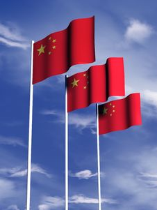 Free Chinese Flag Stock Photography - 4767942