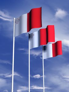Free Maltese Flag Stock Image - 4767961