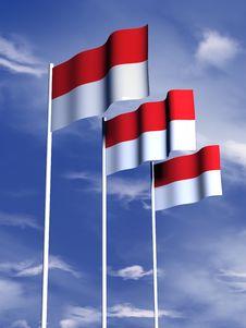 Free Monaco Flag Stock Image - 4767971