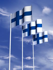 Free Finnish Flag Royalty Free Stock Photo - 4768005