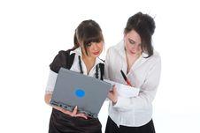 Free Business Women  Working Stock Photo - 4768780