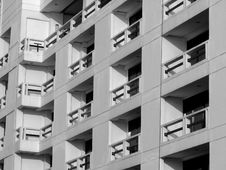 Free Windows And Balconies In Black & White Royalty Free Stock Image - 4769416