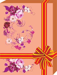 Free Orange Gift With Flower Decoration Stock Images - 4769424
