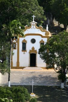 Free Yellow And White Church Stock Image - 4769471