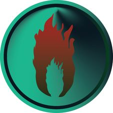 Fire Button Royalty Free Stock Photography