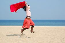 Free Woman On The Beach Royalty Free Stock Photo - 4769655