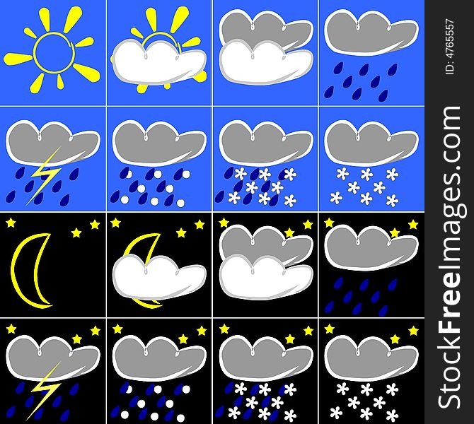 Weather Symbols Free Stock Images Photos 4765557