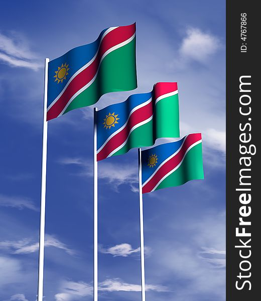 flagge namibia download