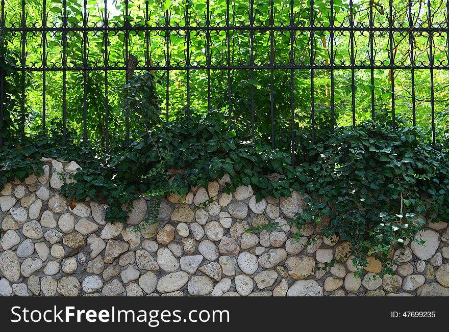 Fence with metal