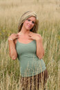 Free Woman In The Grass Stock Photography - 4773392