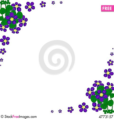 Free Floral Card With Wavy Lines Royalty Free Stock Photography - 4773157