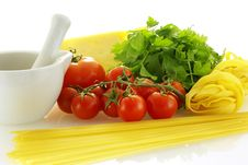 Free Fresh Raw Ingredients For Making Pasta Royalty Free Stock Image - 4770016