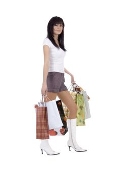 Shoppers Woman Royalty Free Stock Image