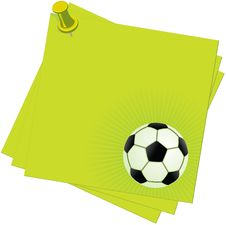 Free Notes And Football Stock Photography - 4770862