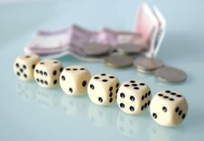 Free Dice And Money Royalty Free Stock Images - 4771059