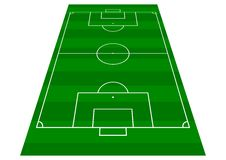 Free Football Pitch Perspective View Royalty Free Stock Image - 4771096