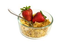 Free Strawberries In A Bowl Of Cereal W Path Stock Image - 4771131